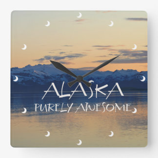 Alaska Coast - Purely Awesome Square Wall Clock