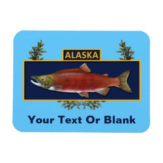 Alaska Combat Fisherman Badge Rectangular Magnets