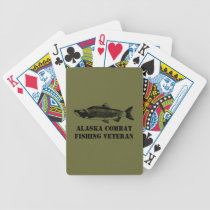 Alaska Combat Fishing Veteran Bicycle Playing Cards