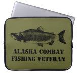 Alaska Combat Fishing Veteran Computer Sleeves