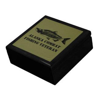 Alaska Combat Fishing Veteran Keepsake Box