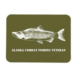 Alaska Combat Fishing Veteran Magnet