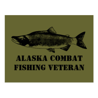 Alaska Combat Fishing Veteran Postcards