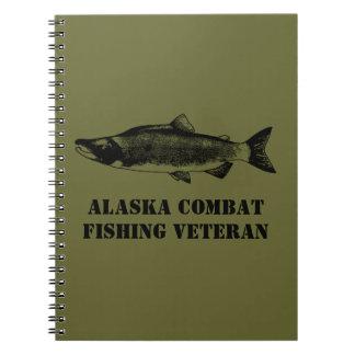 Alaska Combat Fishing Veteran Spiral Notebook