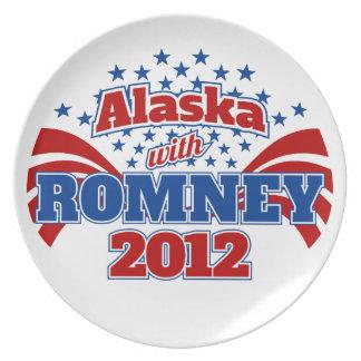 Alaska con Romney 2012 Plato De Comida