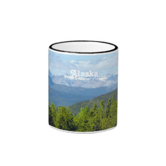 Alaska Countryside Ringer Coffee Mug