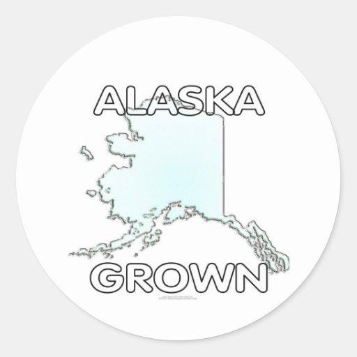 Alaska crecida pegatina redonda
