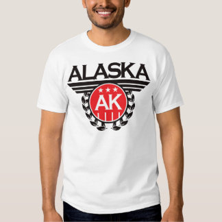 Alaska Crest Design Tee Shirts