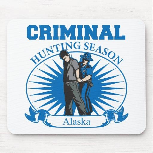 Alaska Criminal Hunting Season Mouse Pads