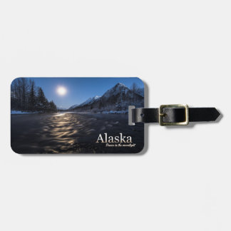 Alaska Dance In The Moonlight Luggage Tag
