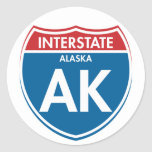 Alaska de un estado a otro AK Etiquetas