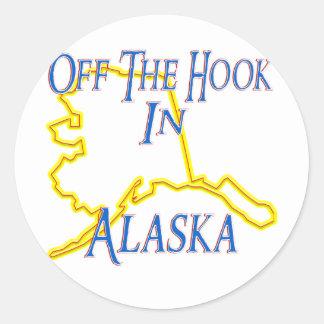 Alaska - del gancho pegatinas redondas