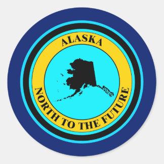 ALASKA DEL NORTE AL FUTURO PEGATINA REDONDA