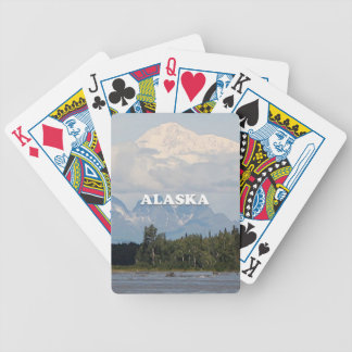 Alaska: Denali, forest, river, mountains, USA 3 Bicycle Playing Cards