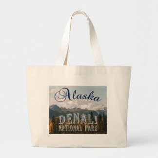 Alaska Denali National Park Mount McKinley Large Tote Bag