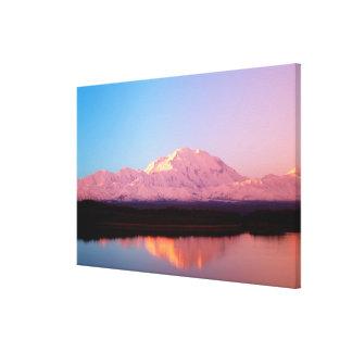 Alaska, Denali National Park, Mt. McKinley at Stretched Canvas Print