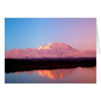 Alaska, Denali National Park, Mt. McKinley at Greeting Card