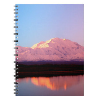 Alaska, Denali National Park, Mt. McKinley at Notebook