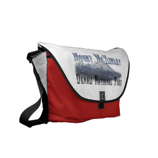 Alaska Denali National Park Mt McKinley Courier Bag