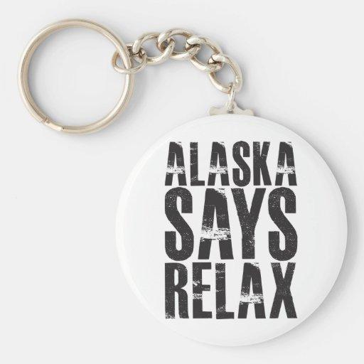 Alaska dice se relaja llavero
