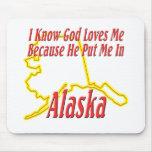 Alaska - dios me ama alfombrilla de ratones