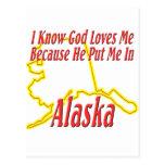 Alaska - dios me ama postal