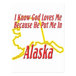 Alaska - dios me ama tarjetas postales