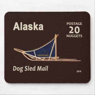 Alaska Dog Sled Mail Postage Stamp Mouse Pad
