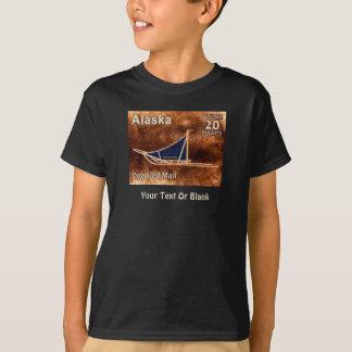 Alaska Dog Sled Mail Postage Stamp T-Shirt