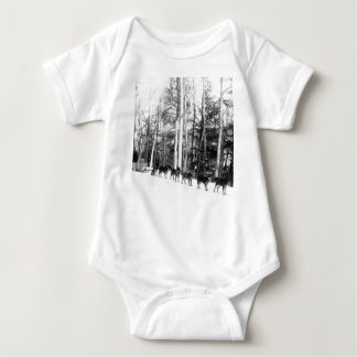 Alaska Dog Sledding Baby Bodysuit