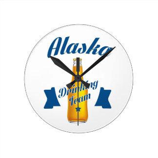 Alaska Drinking team Round Clock