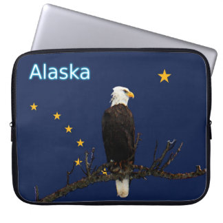 Alaska Eagle And Flag Computer Sleeve