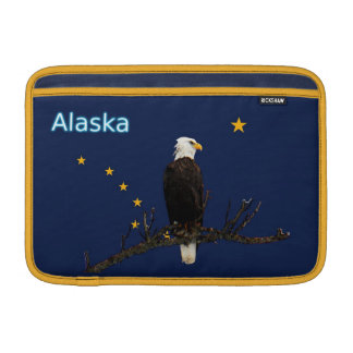 Alaska Eagle And Flag MacBook Sleeve