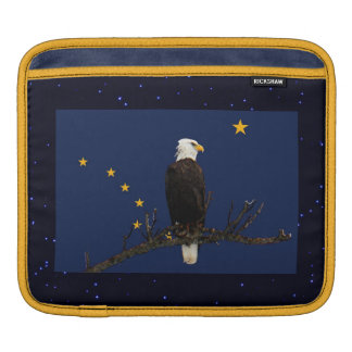 Alaska Eagle And Flag Sleeve For iPads