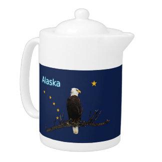 Alaska Eagle And Flag Teapot