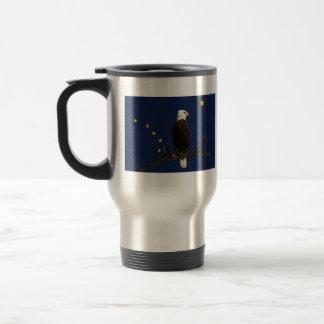 Alaska Eagle And Flag Travel Mug