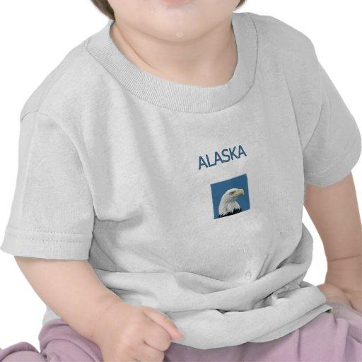 Alaska Eagle calvo Camisetas