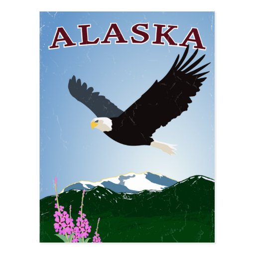 Alaska eagle postcard