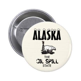 ALASKA: El estado del derrame de petróleo Pin Redondo De 2 Pulgadas