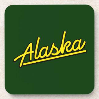 Alaska en amarillo posavasos de bebida
