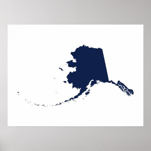 Alaska en azul posters