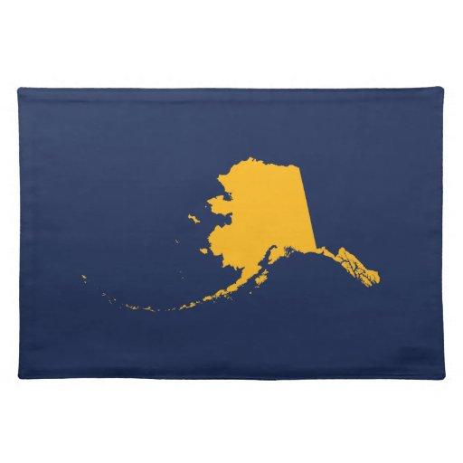 Alaska en azul y oro mantel