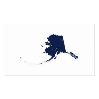 Alaska en azul y oro tarjetas de visita
