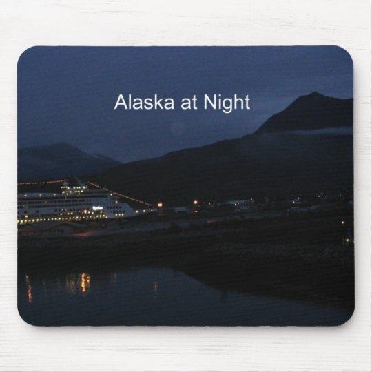Alaska en la noche alfombrilla de ratón