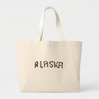 Alaska en pepitas de los alces bolsas lienzo