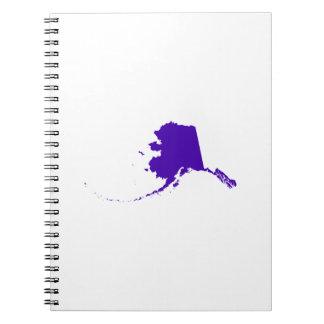 Alaska en púrpura libros de apuntes