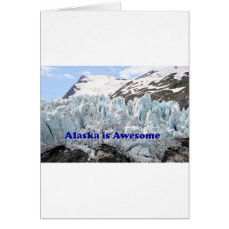 Alaska es impresionante: Glaciar de Portage, Alask Tarjeta De Felicitación