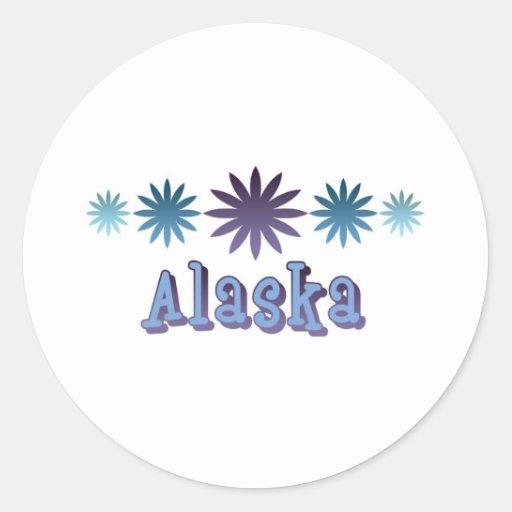 Alaska Etiqueta Redonda