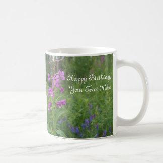 Alaska fireweed wildflower mug