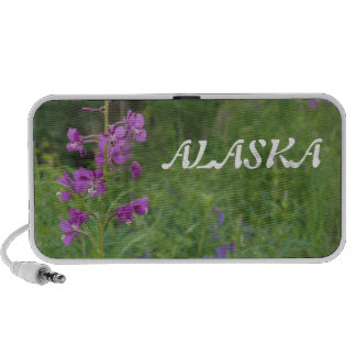 Alaska fireweed wildflower laptop speaker